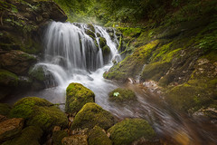 Almost autumn (BorRojnik) Tags: cascade water waterfall green peace tranquility