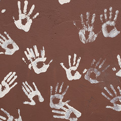 Hands (papajoesm) Tags: white brown hand hands paint painting peace colombia september southamerica
