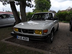 Saab 99 GL Speed 5 (Monde-Auto Passion Photos) Tags: voiture vehicule auto automobile cars saab 99 gl grand luxe blanc white ancienne classique rare rareté france barbizon