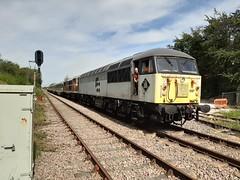 56097 and 31563 Rushcliffe Halt (LCB-65) Tags: gcrn diesel gala 140919 56097 class56 railfreight coal rushcliffe halt