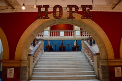 HOPE (Matt From London) Tags: hope batterseaartscentre bac stairs staircase