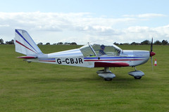 G-CBJR Aerotechnik EV-97 Eurostar cn PFA 315-13846 Sywell 01Sep19 (kerrydavidtaylor) Tags: orm egbk sywellaerodrome northamptonshire