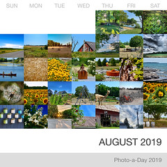August 2019 at a glance (Basildon Kitchens) Tags: princeedwardcounty summer collage