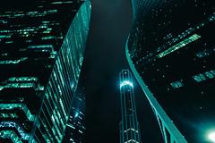 Light curves (vasic.vaskee) Tags: moscow moscowcity lights neon moody leadinglines