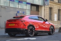 Lamborghini Urus (Monde-Auto Passion Photos) Tags: voiture vehicule auto automobile cars lamborghini urus 4x4 suv red rouge sportive luxe classe france paris