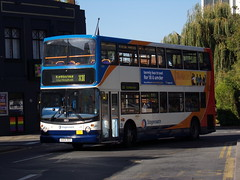 Stagecoach TransBus Trident (TransBus ALX400) 18101 KX04 RDY (Alex S. Transport Photography) Tags: bus outdoor road vehicle stagecoach stagecoachmidlandred stagecoachmidlands alx400 alexanderalx400 dennistrident trident transbustrident transbusalx400 routex10 18101 kx04rdy
