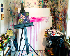 An Artist's Studio (Laveen Photography (aka cyclist451)) Tags: az arizona douglaslsmith laveenphotography naturallight phoenix portland ambientlight artist friend jurneyleigh or oregon unitedstatesofamerica jurneyleighart