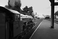 Green Goddess B+W (theRealDieselDave) Tags: green goddess loco steam rhdr romney train railway