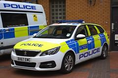 BX67 EWC (S11 AUN) Tags: london metropolitan police peugeot 308 sw estate auto panda car irv incident response unit 999 emergency vehicle metpolice bx67ewc