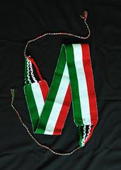 Patriotic Mexican Sash Faja Weavings (Teyacapan) Tags: belts faja sash weavings mexico ropa clothing