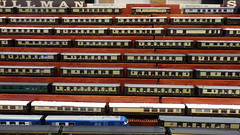 Pullman Coaches of All Types. (ManOfYorkshire) Tags: pullman passenger coach coaches display exhibit exhibition burgesshill model railway train show 2019 variants models 176 scale oogauge society pullmansociety