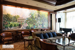 Polo Club Lounge with the stunning mural (thewanderingeater) Tags: windsorcourthotel neworleans centralbusinessdistrict louisiana luxuryhotel luxuryboutiquehotel
