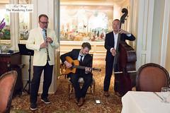 Jazz trio band (thewanderingeater) Tags: windsorcourthotel neworleans centralbusinessdistrict louisiana luxuryhotel luxuryboutiquehotel thegrillroom brunch jazzbrunch