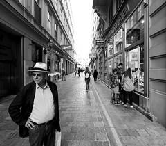 Shopping (CoolMcFlash) Tags: vienna street streetphotography candid person man bnw bw blackandwhite blackwhite fujifilm xt2 wien strase mann sw schwarzweis fotografie photography xf1024mmf4 r ois