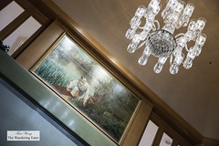 Lovely mural painting and chandelier at the top (thewanderingeater) Tags: windsorcourthotel neworleans luxuryboutiquehotel centralbusinessdistrict louisiana luxuryhotel