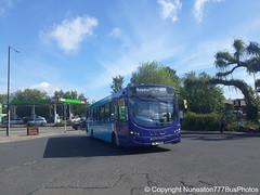 TUI 7936 (MX61AWU) 3807 Arriva Sapphire Midlands East in Nuneaton (Nuneaton777 Bus Photos) Tags: arriva sapphire midlands east wright pulsar tui7936 mx61awu 3807 nuneaton