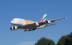 A6-EOU Heathrow 13-09-19 (IanL2) Tags: emirates airbus a380 a6eou aircraft airliners london heathrow airport