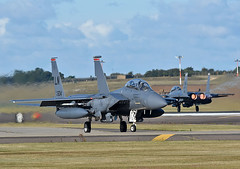 Strike Eagles (np1991) Tags: royal air force raf lakenheath ln suffolk england united kingdom uk states america usa us american usaf europe usafe f15 eagle 48th fighter wing operations group fw og nikon digital slr dslr d7200 camera aviation planes aircraft strike f15e 494th fs squadron