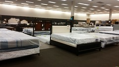 Headboards in the Footpath (Retail Retell) Tags: overstock furniture mattress temporary retailer former booksamillion southaven towne center ms desoto county retail mall joe muggs café