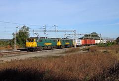 86628 86639 Gordons Lodge (CD Sansome) Tags: wcml west coast main line gordons lodge ashton train trains freightliner 4l41 cans 86 86628 86639 crewe basford hall felixstowe north flt al6