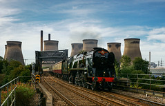 34046 'Braunton' at Brotherton (Michael 43123) Tags: 34046 braunton merchant navy steam locomotive sr southern railway bullied br british rail river aire west yorkshire valley ferrybridge power station c cegb brotherton