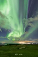 Flying under Aurora (Kjartan Guðmundur) Tags: iceland ísland auroraborealis northernlights arctic norðurljós nocturne nightscape nightphotography sky stars field outdoor canoneos5dmarkiv sigma14mmf18art kjartanguðmundur
