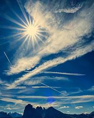 Blue Melody... (Ody on the mount) Tags: berge canon g7xii himmel landschaft langkofel langkofelgruppe powershot sonne strahlen südtirol urlaub wolken clouds landscape mountains rays sky sun