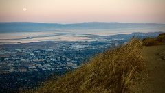 Moon Setting over the Bay (kevinfoxphotography53) Tags: ebparksok mission peak regional preserve moon rise