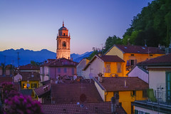 The Roofs of Bellagio (RobertCross1 (off and on)) Tags: a7rii alpha bellagio emount europe fe50mmf18 ilce7rm2 italia italy lakecomo lombardia lombardy sony architecture bluehour church cityscape dusk evening fullframe landscape mirrorless mountains roof sunset town twilight village