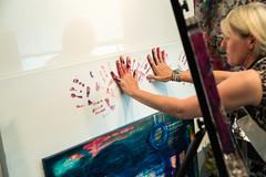Artist at Work (Laveen Photography (aka cyclist451)) Tags: az arizona douglaslsmith laveenphotography naturallight phoenix portland ambientlight artist friend jurneyleigh or oregon unitedstatesofamerica jurneyleighart
