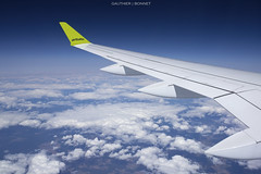 [In Flight] Air Baltic Airbus A220 / Bombardier CS300 Youloulouh YL-AAQ (gauthierbonnet) Tags: air baltic ylaaq rix evra cs300 a220
