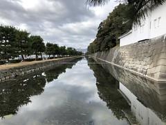 Kyoto Nijo Castle Moat (zombiespammer) Tags: japan kyoto nijo castle moat water wall
