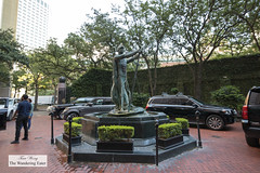 Fountain in the courtyard (thewanderingeater) Tags: windsorcourthotel neworleans centralbusinessdistrict louisiana luxuryhotel luxuryboutiquehotel