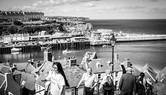 Whitby . (wayman2011) Tags: colinhart fujifilmxe2s lightroom5 wayman2011 bw mono coast harbours people northyorkshire whitby uk 7artisans25mmf18