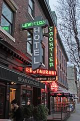 1st Avenue Neon (skipmoore) Tags: seattle 1stave lewistonhotel neon signs frontierrestaurant