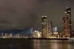 Skyline Kop van Zuid (R vd vos) Tags: rotterdam netherlands longexposure nightphotography nightshot night kop van zuid