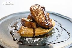 Foie gras, cinnamon apples, waffle (thewanderingeater) Tags: windsorcourthotel neworleans centralbusinessdistrict louisiana luxuryhotel luxuryboutiquehotel thegrillroom brunch jazzbrunch