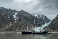 SV Rembrandt van Rijn in Alpe Fjord, Northeast Greenland (thomas.reissnecker) Tags: natgeo north polar mountains landscape arctic greenland sailship ship gletscher glacier