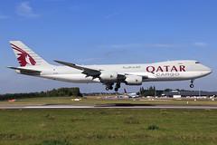 Qatar Airways Cargo  Boeing 747-87U(F) A7-BGA (widebodies) Tags: liege lüttich lgg eblg widebody widebodies plane aircraft flughafen airport flugzeug flugzeugbilder qatar airways cargo boeing 74787uf a7bga