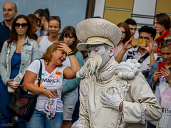 _MG_1837 (Mikhail Lukyanov) Tags: russia moscow street carnival theater actor clown makeup white performance shows spectators