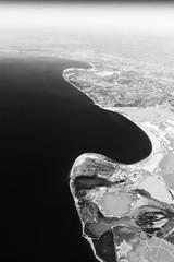 Shoreline (kotmariusz) Tags: plane landscape sea shoreline bw monochrome monochromatic blackandwhite monochrom morze krajobraz zsamolotu widok czarobiały