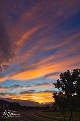 Kihei Sunrise (Kirt Edblom) Tags: maui mauihawaii kiheihawaii kihei hawaii scenic serene sunlight sunrise gaylene wife milf clouds sun blue bluesky orange red complex morning condo sky skyline landscape panorama panoramamaker6 tropical kirt kirtedblom edblom luminar nikon nikond7100 nikkor18140mmf3556