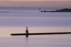 Lake of the Morning Calm (Flipped Out) Tags: chicago edgewater hollywoodbeach thorndaleavebeach lakemichigan sunrise