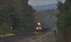 Right of Way: Milepost 307 (Images by A.J.) Tags: railroad train highlands pittsburgh pennsylvania rail railway dreary stormy cargo line rainy transportation laurel freight derry norfolk southern tank oil