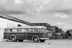 Ikarus 60 (ac.Zadam) Tags: ikarus bus buses reflection sky public transport budapest hungary factory mátyásföld 60 256 bpi060 kty042 bw black white shadow vehicle industrial oldtimer