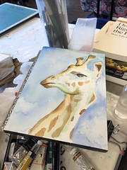 #wip #watercolor CCAC 9.14.19 (Howard TJ) Tags: watercolor wip columbus ohio art painting arches center giraffe