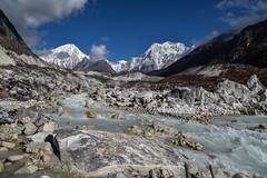 Mountain Himlung Himal (7126 m.a.s.l.) and Dudh Khola river (Petr Vodak) Tags: dudhkhola nepal mountain river hora nepalese himalaya himalayas nepali reka himalay řeka himalaje nepál himlung himlunghimal trekokolomanaslu himlunghimal7126m november landscape listopad krajina