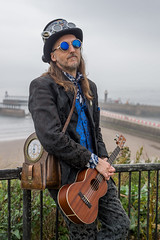 The Duke of the Uke (daveseargeant) Tags: whitby west cliff portrait seaside sea coastal coast steampunk nikon df street gothic goth north yorkshire festival event 2019 july