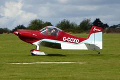 G-CCXO Corby CJ-1 Starlet cn PFA 134-13267 Sywell 01Sep19 (kerrydavidtaylor) Tags: orm egbk sywellaerodrome northamptonshire