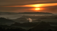 Misty looking Buxton (PentlandPirate of the North) Tags: solomonstower mist buxton derbyshire dawn sunrise sun fog